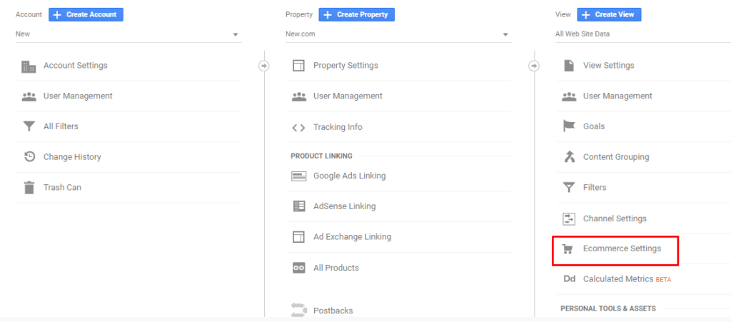 Magento 2 Google Analytics - enable ecommerce settings