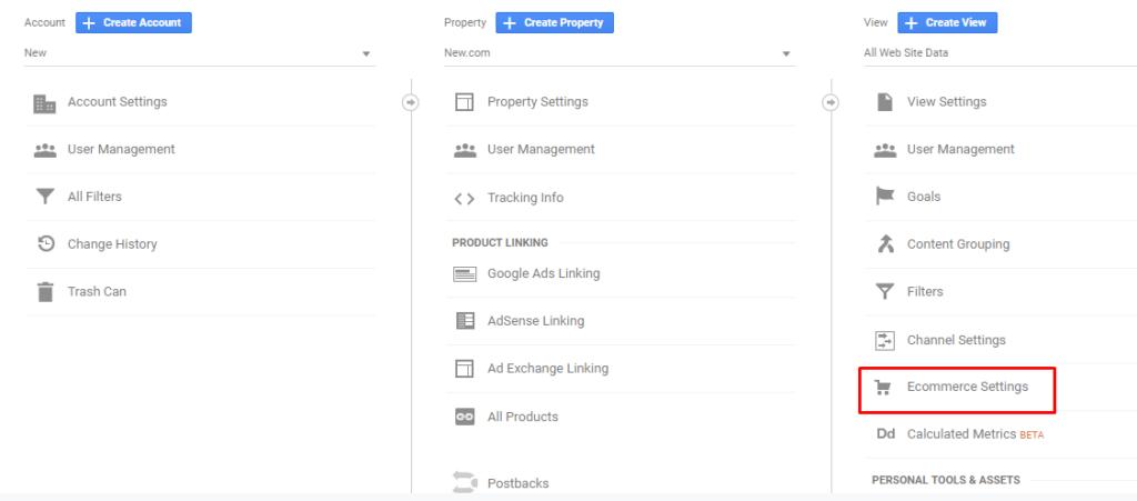Magento 2 Google Analytics - enable ecommerce settings