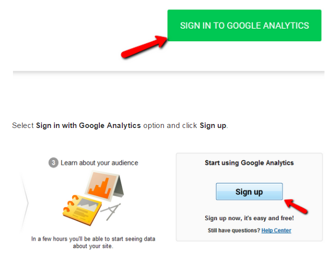 Magento 2 Google Analytics sign up