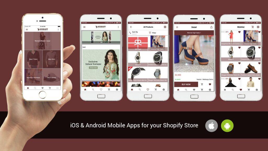Magento Vs Shopify Vs WooCommerce : Shopify mobile app