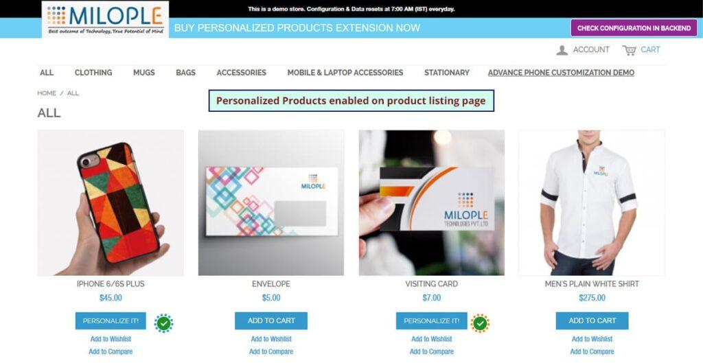 magento product designer extension